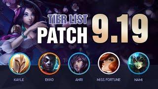 LoL Niveau de la Liste de Patch 9.19 par Mobalytics (Mondes Patch!) - League of Legends