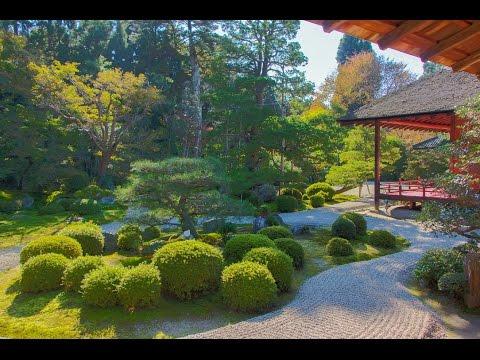 """""""Karesansui Gardens"""" of Manshu-in, Kyoto."""