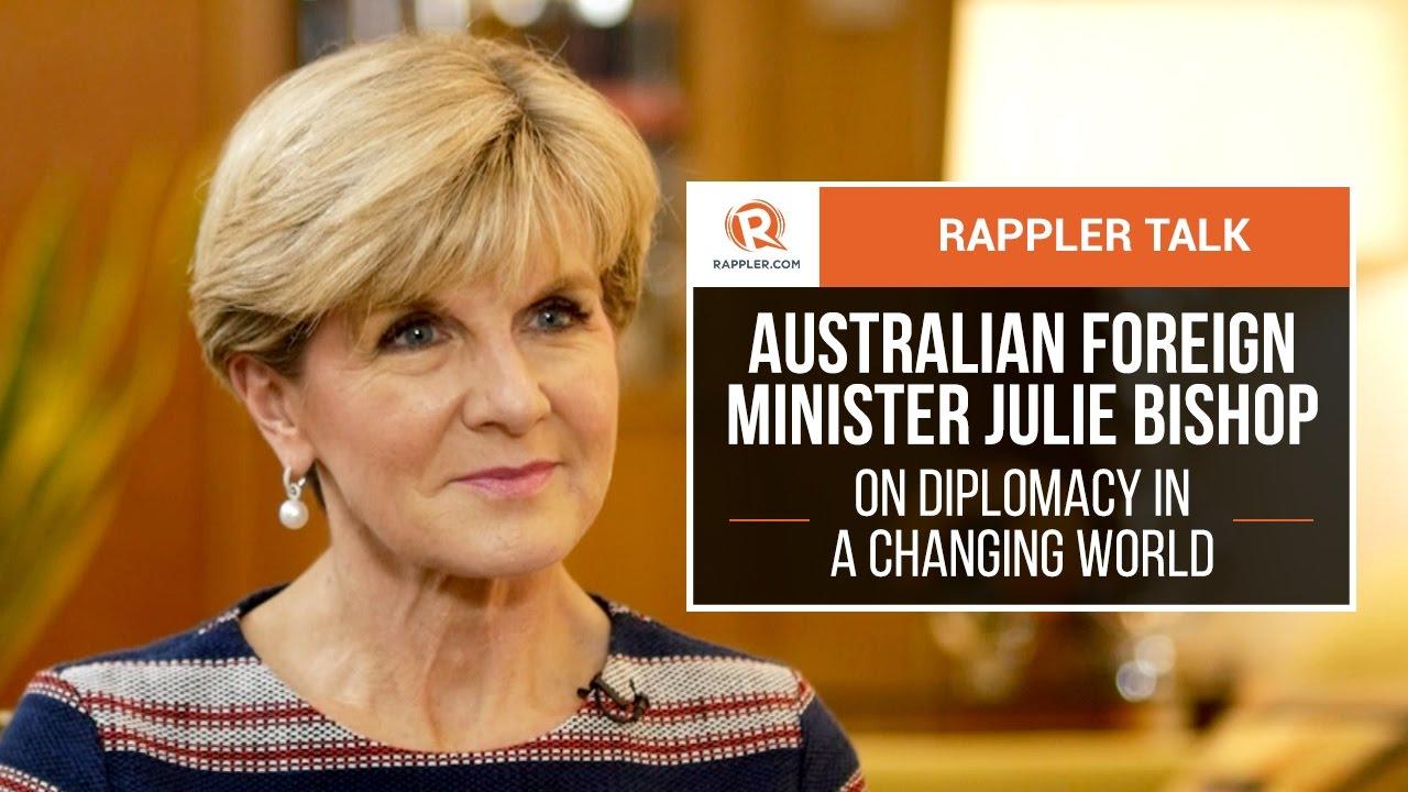 rappler talk: australian foreign minister julie bishop on