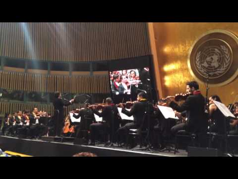 Gustavo Dudamel & Simón Bolívar Orchestra of Venezuela at United Nations (pt. 1)