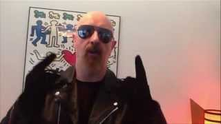 Metal God Rob Halford sending a Birthday message to Willie Nelson