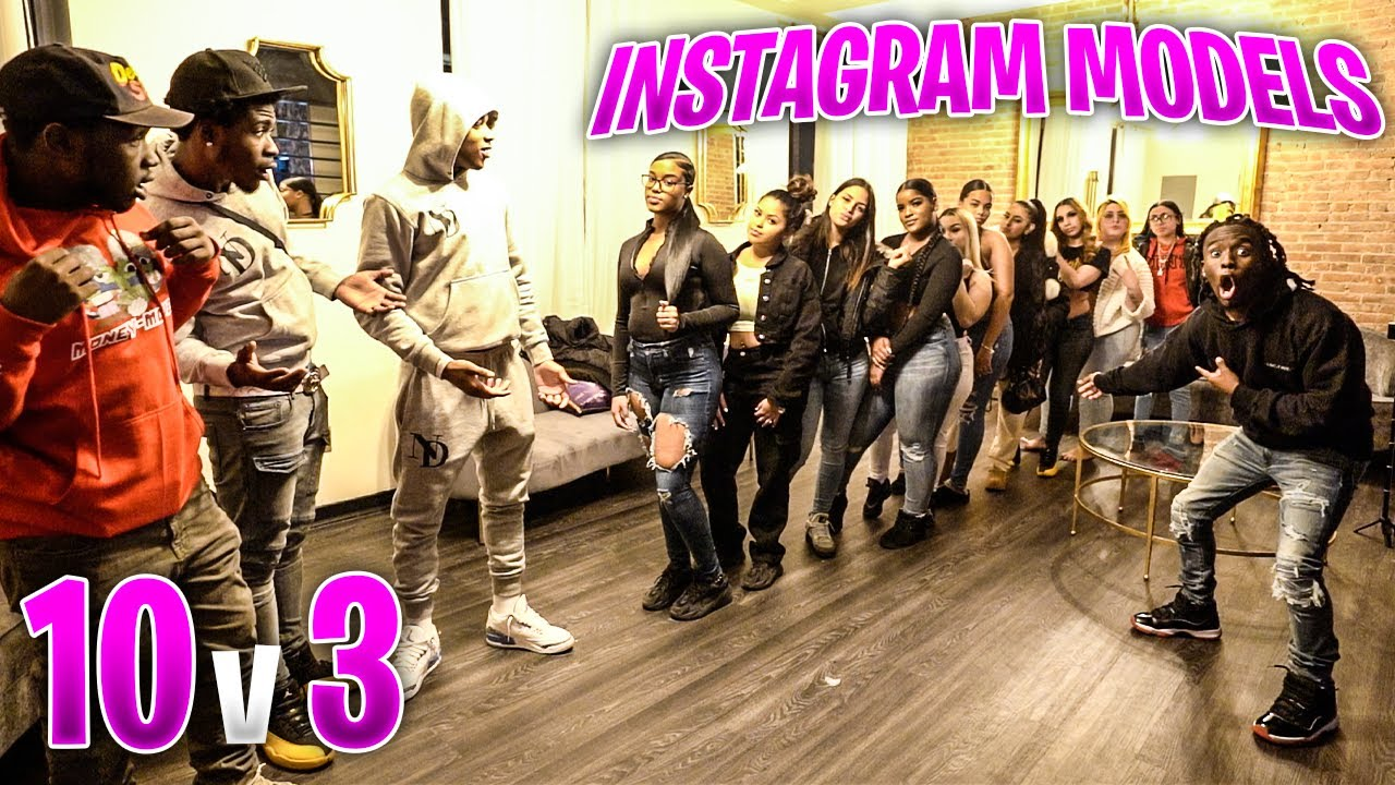10 Instagram Models Compete For 3 Hood Guys...