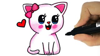 HOW TO DRAW A CAT - drawing a cat easy | how to draw cat step by step