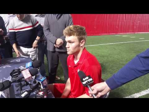 Tate Martell at Ohio State on Signing Day