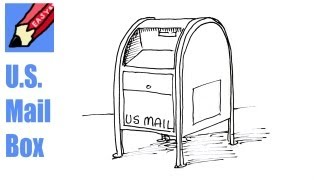 How to Draw a US Mail Box