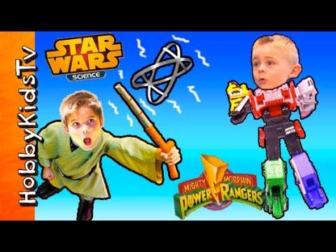 TOYS R Us Power Ranger Mega Zord Ptera + Star Wars Science Force Play HobbyKidsTV