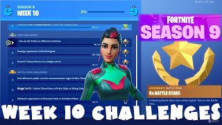 ALL Week 10 Season 9 Challenges Guide + Utopia Secret Skin SINGULARITY - Fortnite Battle Royale