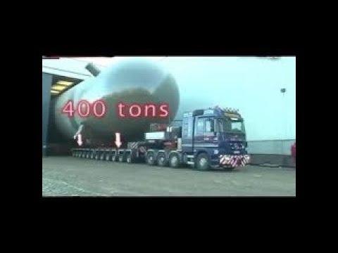 Biggest oversize load truck goldhofer heavy transport moving transformator