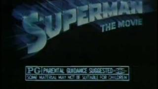 Superman - The Movie 1978 TV trailer