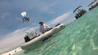 Snorkeling at the Destin Jetties - raw video 1