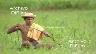 Pescadores de pirañas en el Amazonas - Brasil 1990