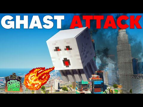 MINECRAFT GHAST DESTROYS THE WORLD!   PGN # 248   GTA 5 Roleplay