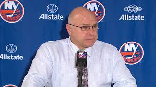 Barry Trotz Discusses SO Loss To Pens, Robin Lehner's Game   New York Islanders Post Game