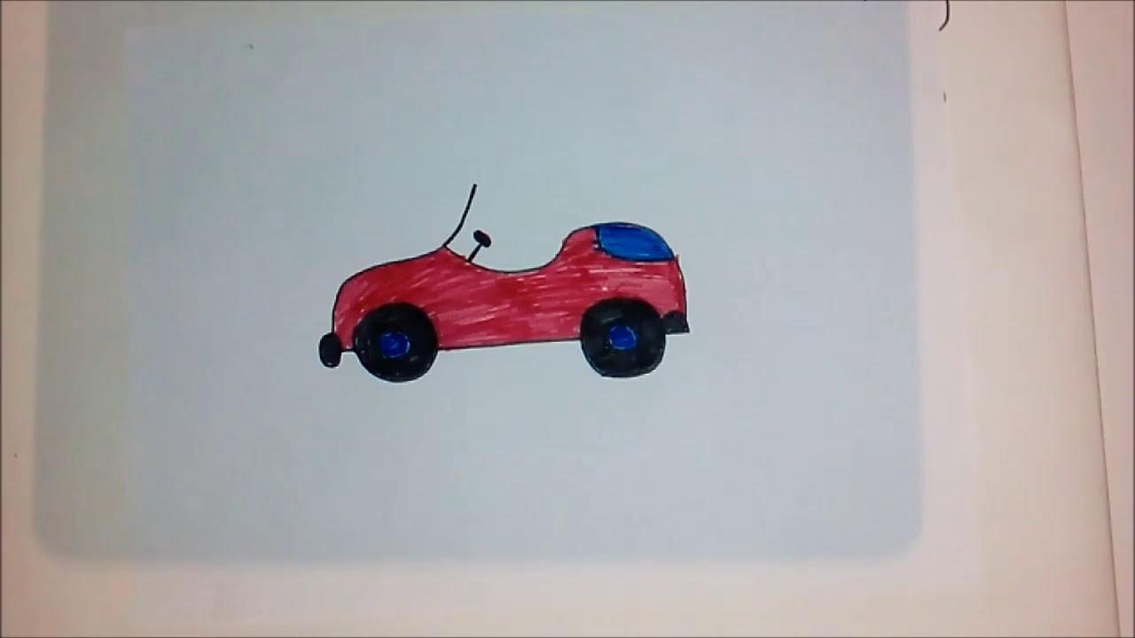 Araba çizimi Kolay Araba çizimi Basit çizimler 3 Gırla Sanat