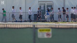 Congress members tour Homestead Temporary Shelter for Unaccompanied Migrant Children