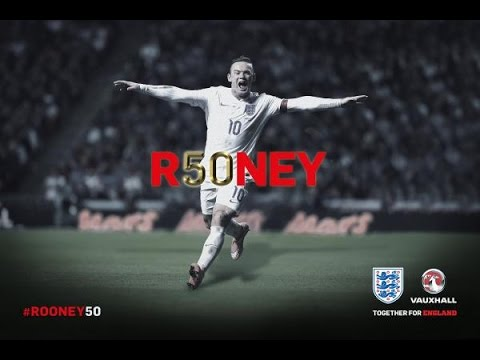 Wayne Rooney - All 50 goals for England (new record) [viollin version]