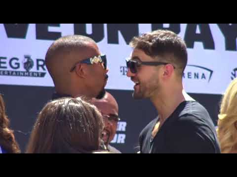 Badou Jack Nathan Cleverly Faceoff in Vegas  EsNews Boxing