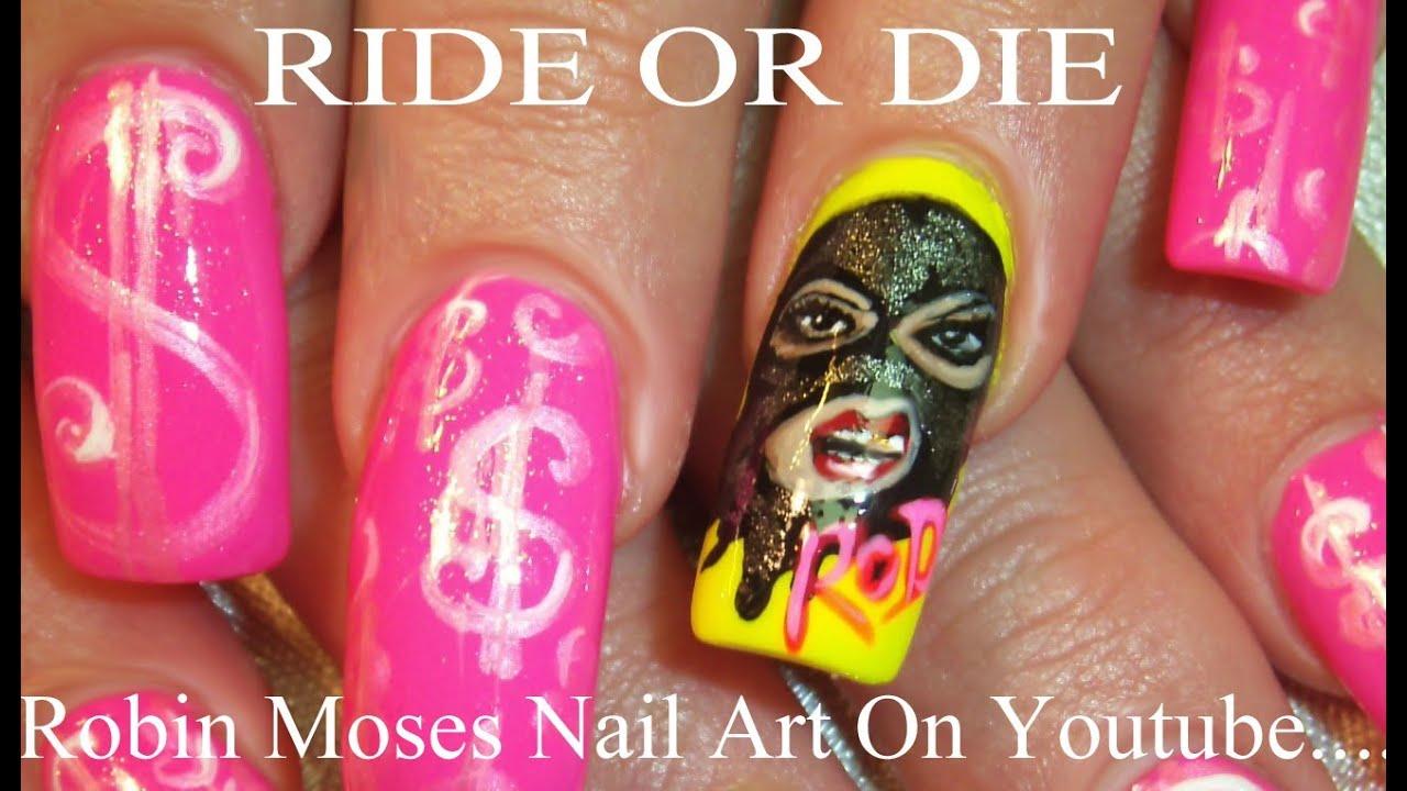 Nail Art Tutorial - Long Diva MONEY Nail Design - YouTube