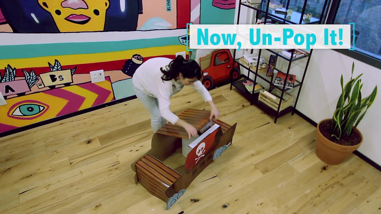 How To PopUp and UnPop - POPIN™ Pirate Ship Table