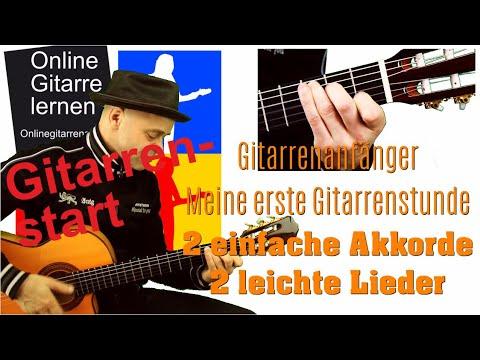 Meine erste Gitarrenstunde - 2 leichte Akkorde und Lieder
