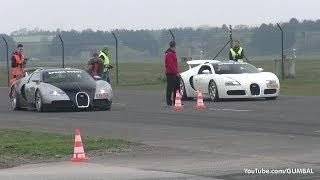 Bugatti Veyron w/ Mansory Exhaust vs Bugatti Veyron Grand Sport