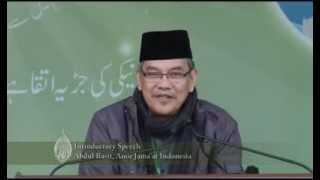 Jalsa Salana Qadian 2013 1st Day 2nd Session Introductory Speech Abdul Basit, Amir Jamaat Indonesia