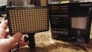 Neewer 176 Led Fill Light... The Best Budget Camera Light You Can Get!!!!!