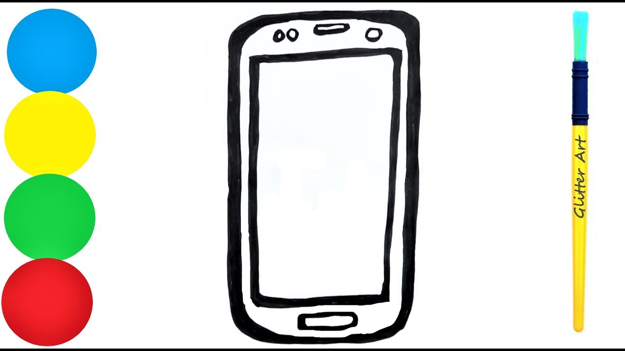 smartphone coloring pages for kids Handy zeichnen ...