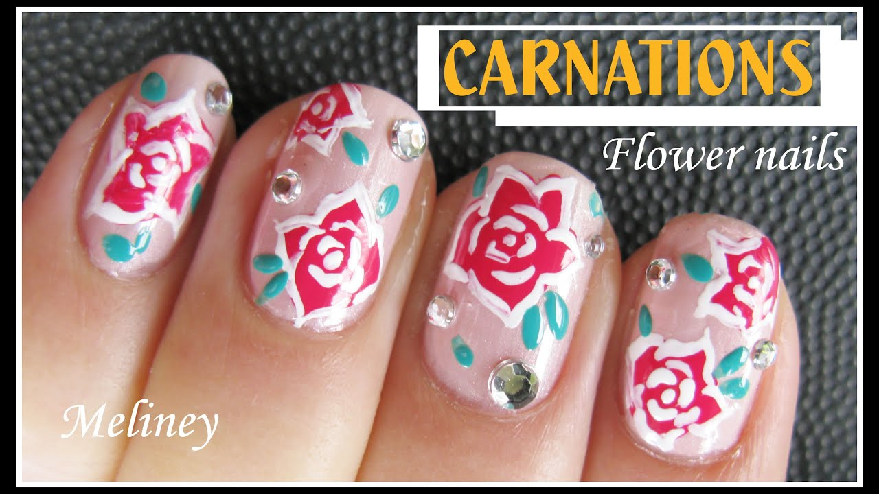 Flower nails manicure carnation nail art design tutorial for flower nails manicure carnation nail art design tutorial for beginners how to basics prinsesfo Images