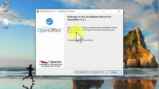 Open Office on Windows 10
