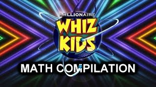 Who Wants To Be A Millionaire? Whiz Kids: Math Compilation (S15 | Ep.46-50 + 111-115 + 136-140)