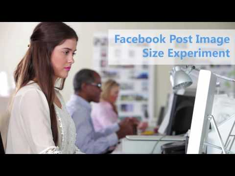 Facebook Marketing Science Experiment - Image Size Tutorial - YouTube