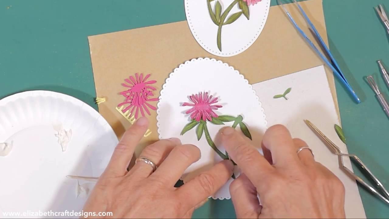 Elizabeth Craft Designs Susan S Garden Notes Aster