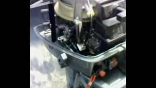 Mariner 8 HP outboard engine start and run test