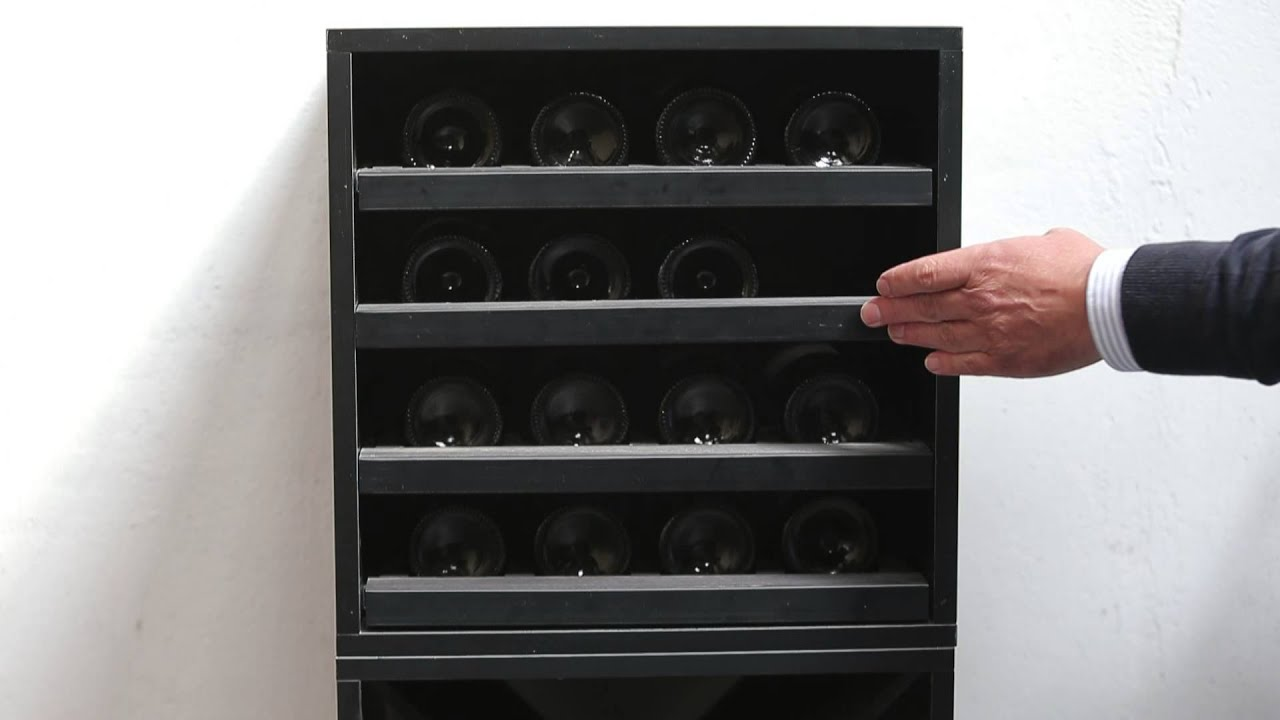 Botellero merlot con capacidad para 16 botellas de vino - Botelleros de madera para vino ...