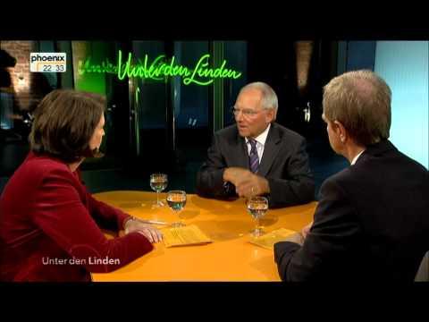 Wolfgang Schäuble - Unter den Linden persönlich vom 20.09.2012