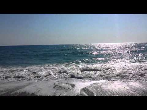 Rough sea in Pissouri, Cyprus, Mediterranean