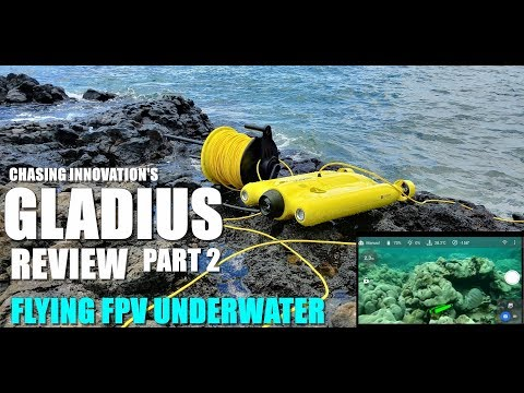 GLADIUS Submersible ROV Drone Review - Part 2 - Flying FPV Underwater - Pilot's View 😂💦