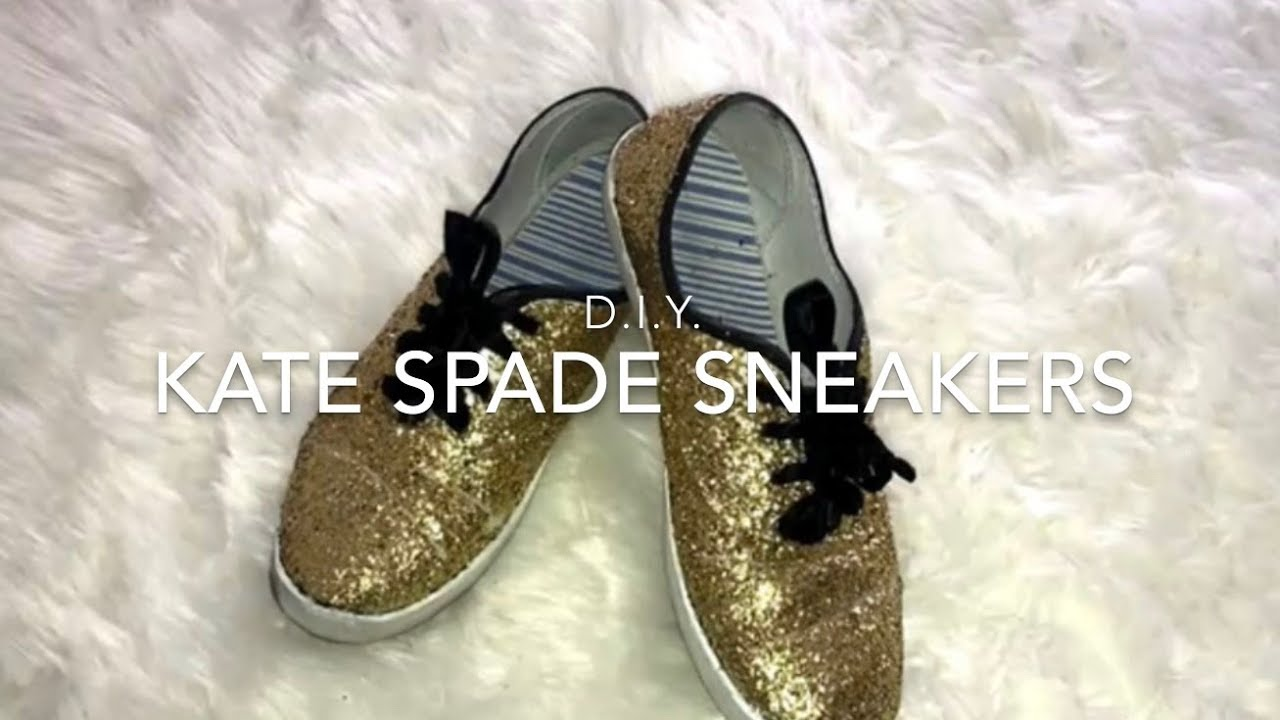 dadccfb386 DIY Kate Spade Glitter Sneakers ❤ - YouTube