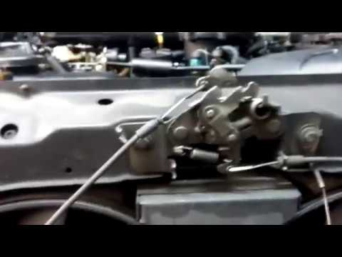 Abrir capó con tirador roto Citroen Xsara / Open Xsara hood