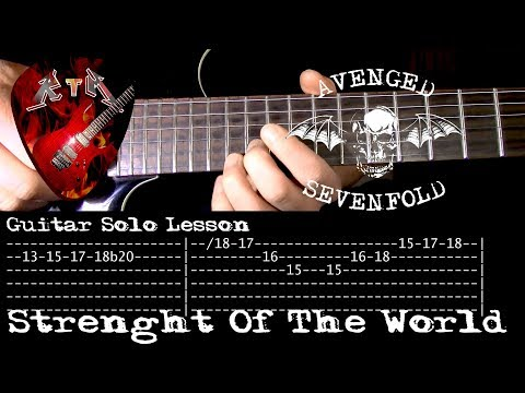 Strength Of The World Guitar Solo Lesson - Avenged Sevenfold with tabs mp3