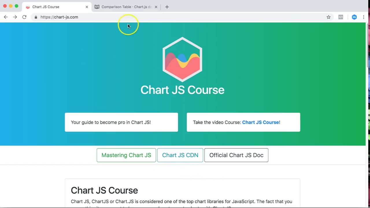 Doughnut Pie Chart with Chart JS | Chart JS Course