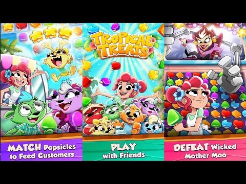 Tropical Treats - Puzzle Game & Free Match 3 Games (By MobilityWare) Android IOS Gameplay