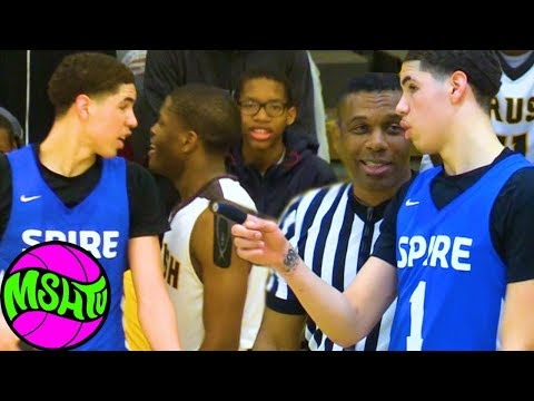 LaMelo Ball DEFENDERS TRY TO PUNK MELO - Spire vs Brush Full Game