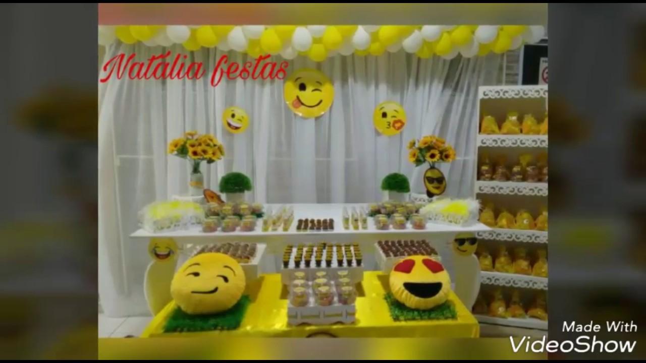 Aniversário emoji YouTube -> Decoracao De Festa Tema Emoji