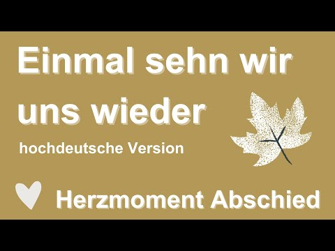 EINMAL SEH'N WIR UNS WIEDER-Trauer-/Abschiedslied-Cover von Stephanie Meissner