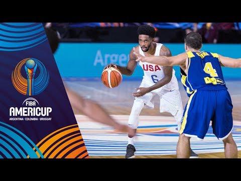 HIGHLIGHTS: USA vs. Virgin Islands (VIDEO) SEMIS -  FIBA AmeriCup 2017