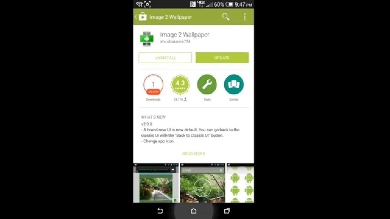 How to set wallpaper on Android