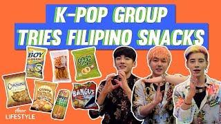 K-Pop Group Tries Filipino Snacks!