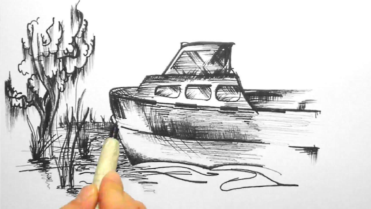 Skizze 2, ein Boot am Ufer (Sketch 2, a boat on the shore)[HD] - YouTube